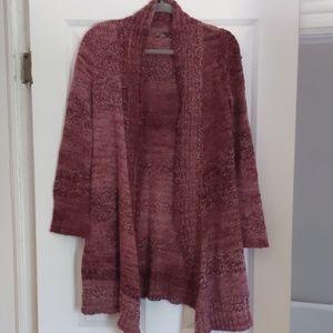Prana long sweater in pink/magenta
